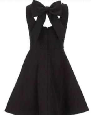 Flare dress with V-neckline