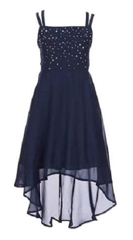 Lace back chiffon dress