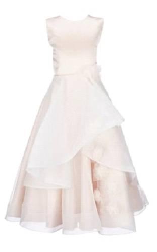 Satin tulle dress