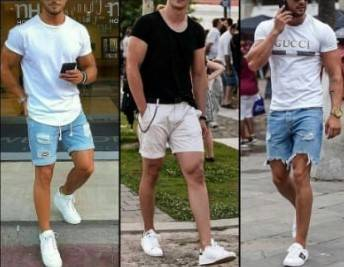 T-shirt and shorts pants style