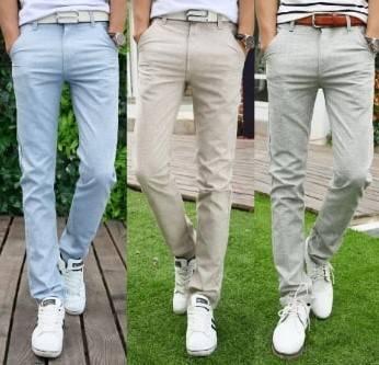 slim khaki linen pants: