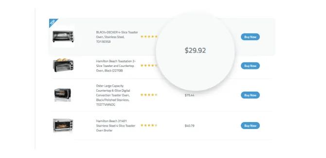 amazon product table