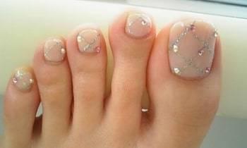 classy toe nails art