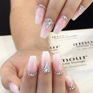 Princess Style Diamonds Nails