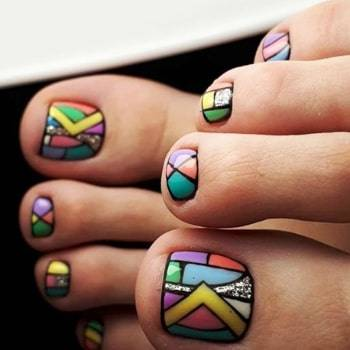 funny toe nail design for fall