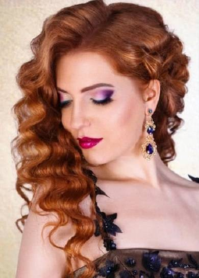 red hair makeup