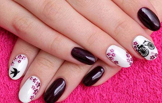 Abstract Florals Nail