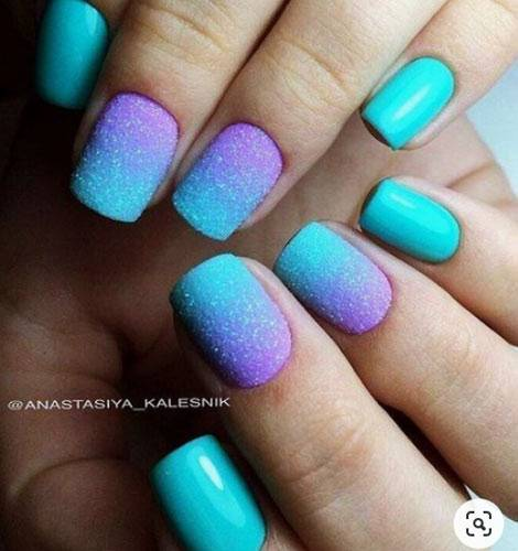 teal nail designs
