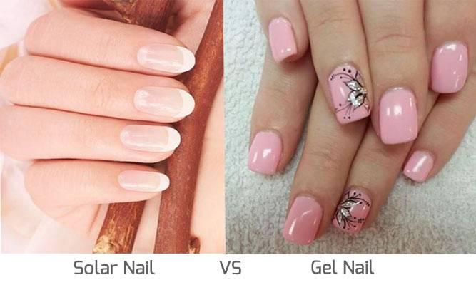solar nail vs gel nail